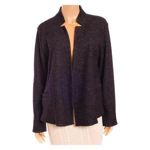 EILEEN FISHER Herringbone Open Front Jacket NEW!